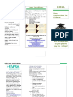 financial aid brochure