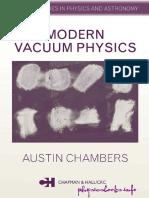Modern Vacuum Physics