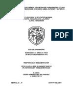 HERRAMIENTAS BÁSICAS DE LA INVESTIGACION EDUCATIVA