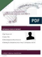 glucose 6-phosphate dehydrogenase deficiency