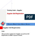 1. Supplier Self Registration