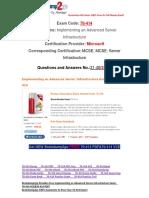 [PDF&VCE]Braindump2go 70-414 Book Free Download 31-40