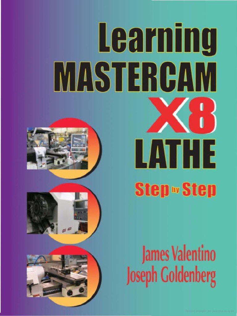 learning mastercam x8 step by step lathe software business rh scribd com