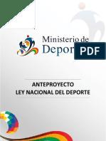 450-Ley Nacional Del Deporte Anteproyecto