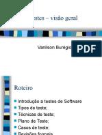 Roteiros de Teste - software