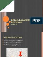 Retail Location Decisions