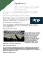Tips Unggul Bermain Judi Bola Online