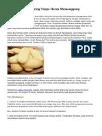 Tips Resep Kue Kering Tanpa Harus Memanggang