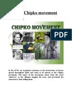 Chipko Movement