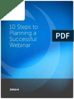 10 Steps to Planning Successful Webinars Final