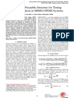 +Improved preamble structure for timing synchronization in MIMO-OFDM systems