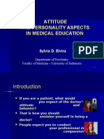 Attitude and Personal Behaviour in Medical Education