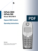 HiPath 3000 V1.2 Gigaset 4000 Comfort Operating Instructions