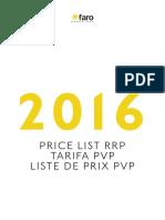 201601 FARO TARIFA 2016