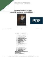Balletti a cinque voci, 1591 / Giovanni Giacomo Gastoldi