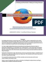 Ethical Hacking Firefox Plugin by Srikanta Sen