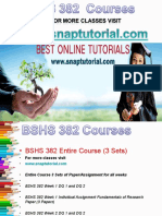 BSHS 382 Apprentice tutors / snaptutorial