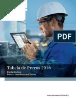 Tabela de Preços 2016 - Siemens