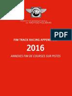 FIM TRACK RACING APPENDICES 2016