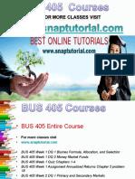BUS 405 Apprentice tutors/ snaptutorial