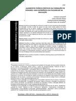 Artigo Entrelaçamentos Teórico-práticos Na Formação de Professores