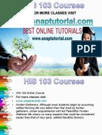 HIS 103 Apprentice tutors/snaptutorial