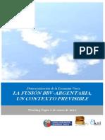 Democratizacion de la Economia Vasca. LA FUSION BBV ARGENTARIA . UN CONTEXTO PREVISIBLE