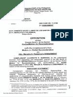 Cbd No.11-3166 Disbarment Opposition