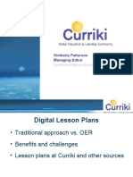 Evaluating & Downloading Lesson Plans Kimberley Patterson (Curriki)