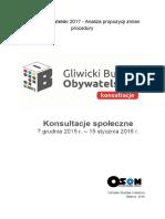 Budżet Obywatelski Gliwice - Konsultacje Społeczne OSOM Gliwice
