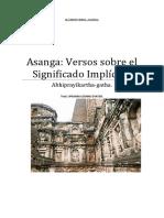 Asanga Versos Sobre El Significado Implícito.