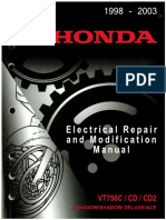 Honda VT750CD ACE Electrical Repair and Mod Manual
