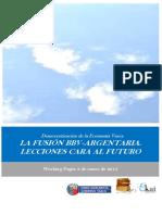 Democratizacion de la Economia Vasca. LA FUSION BBV ARGENTARIA. LECCIONES CARA AL FUTURO