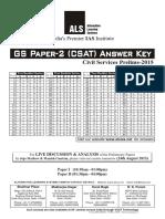 Answer Key CSAT