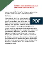 Asal Usul Tari Piring Yang Merupakan Tarian Adat Minau Kabau Sumatera Barat (1)