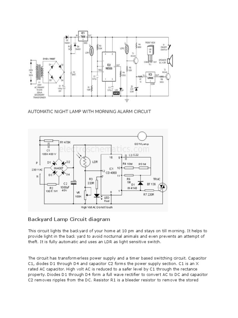 Circuit Projects Relay Power Supply Bright Light For This Ldr Electronic You Can Use A Wide Range