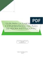 GUIA Para La Elaboracion e Implementacion Del Plan de Mejora Institucional