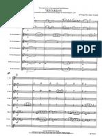 YESTERDAY - Ensemble Saxos