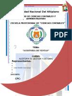 Auditoria de Ventas Auditoria de Gestion y Sistemas (1)