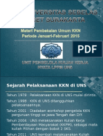 1.PEMBEKALAN MATERI UMUM KKN(30 Mei 15).ppt