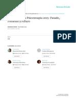 Integración en Psicoterapia 2015