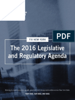 Fix New York Legislative Regulatory Agenda