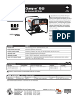 Spec Sheet - Champion 4500