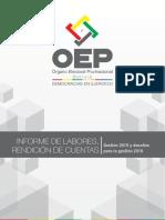 Informe de gestión OEP 2015