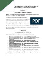 Regimento Interno Do Conselho Municipal de Desenvolvimento Rural de Pacaembu