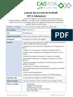 Aménagement Du Terrain de Football ISTA Khémisset