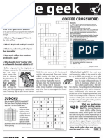 Coffee Geek - A Coffee Themed Trivia and Game Sheet GOSPEL TRACT