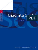 Catalogue de Giacinto Scelsi