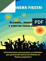 ¡Una buena fiesta! Alcohol, menore y fiestas populares