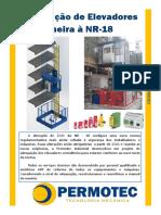Adequação de Elevador Cremalheira NR-18 - Permotec Industrial